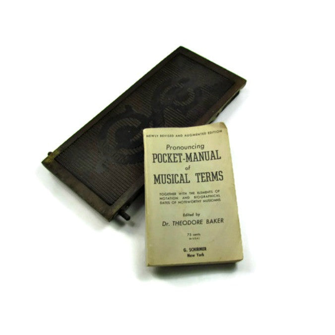 1947 Vintage Pocket Manual of Musical Terms - Attic and Barn Treasures