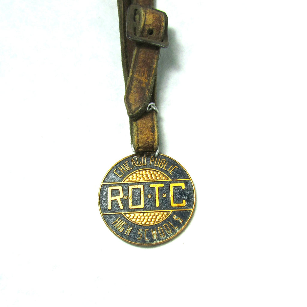 Vintage Chicago High School ROTC Luggage Tag - Attic and Barn Treasures