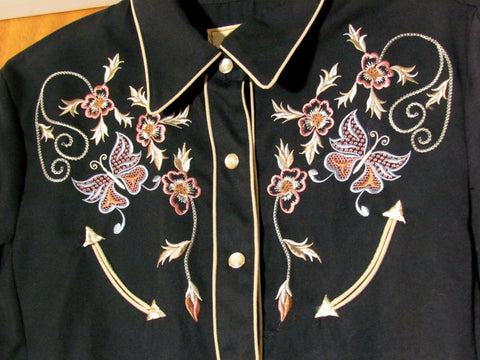 Vintage Scully Country Western Ladies Shirt Size Small - Attic and Barn Treasures