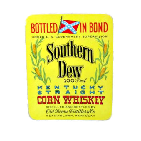 Vintage Southern Dew Kentucky Corn Whiskey Original 1950's Bottle Label - Attic and Barn Treasures
