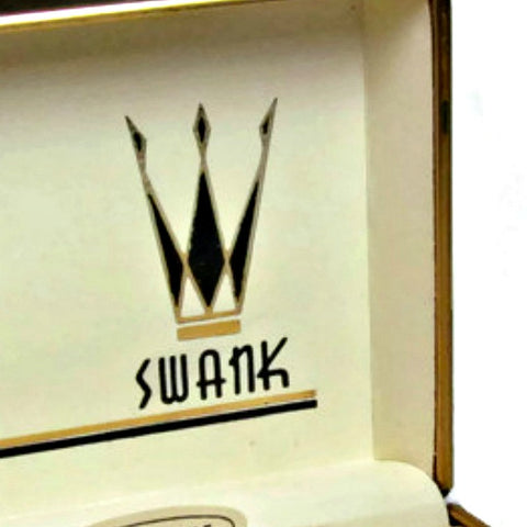 Vintage Black and Gold Swank Presentation Box c. 1950s - Attic and Barn Treasures