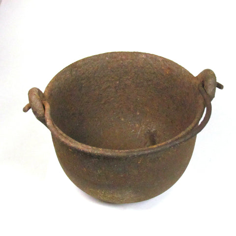 Antique SWETT Cast Iron Glue Pot Cauldron