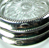 Vintage W & S Blackinton Silverplate Cut Glass Coasters Set of 4 - Attic and Barn Treasures