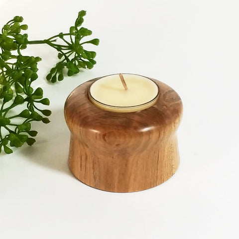 Ambrosia Maple Wood Hand Turned Tealight Holder - Attic and Barn Treasures