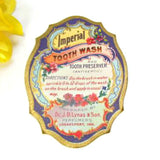 Antique Paper Imperial Tooth Wash Label circa 1900 Excellent Graphics - Attic and Barn Treasures