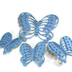 Vintage 1970's Butterfly Wall Decor Burwood Products Set of 4
