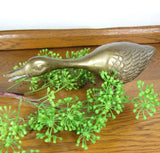 Vintage Brass Standing Duck Statue - Attic and Barn Treasures