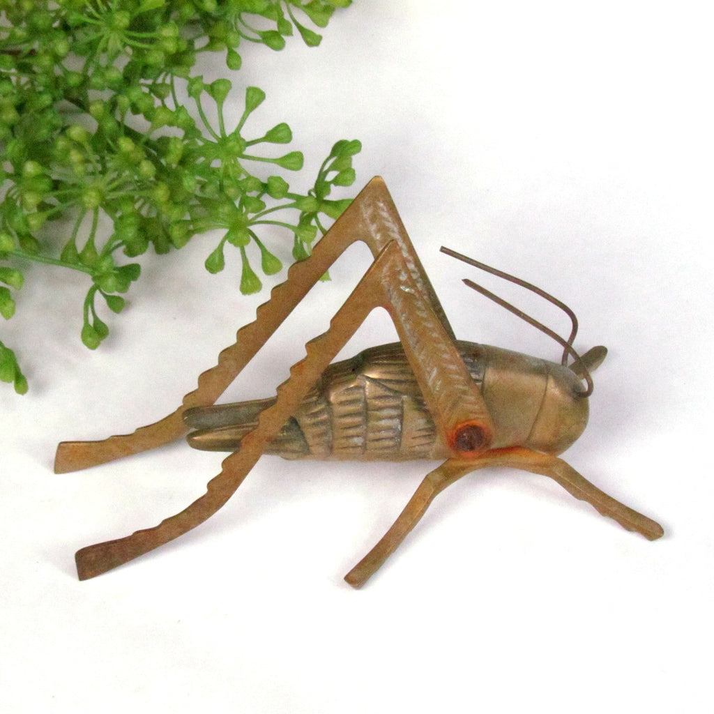 Vintage Brass Grasshopper with Movable Legs - Attic and Barn Treasures