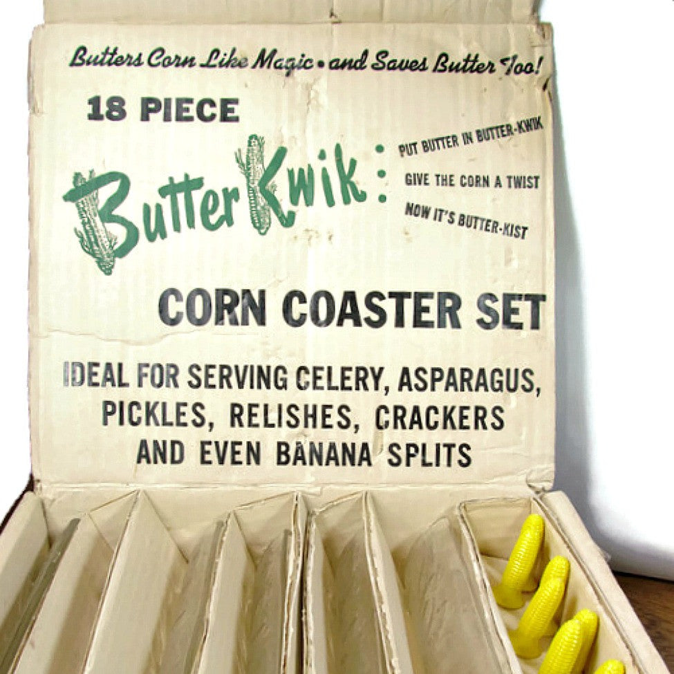Vintage 18 Piece Butter Kwik Corn on the Cob Serving Set - Attic and Barn Treasures