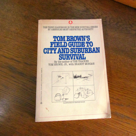 1984 Vintage Tom Brown's Field Guide to City and Suburban Survival book - Attic and Barn Treasures