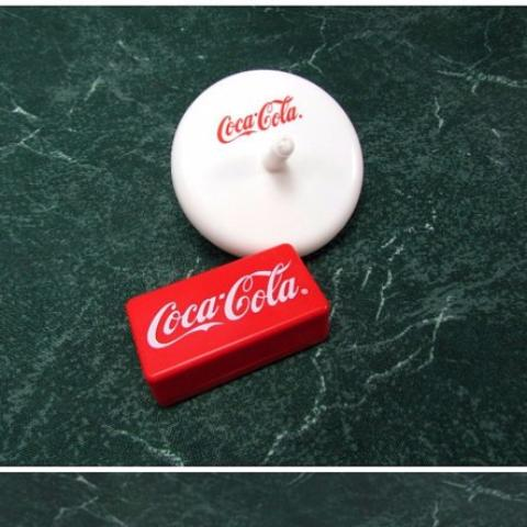 Vintage Coca Cola Spinning Top and Clicker - Attic and Barn Treasures