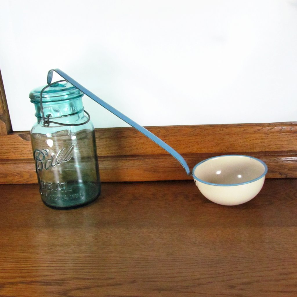 Vintage Enamel Over Metal Dipper Ladle - Attic and Barn Treasures