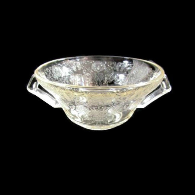 Vintage Atlas Florentine Poppy Double Handle Depression Glass Dish - Attic and Barn Treasures