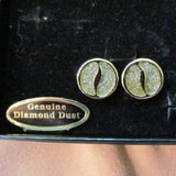 Vintage Diamond Dust Clip Earrings Gold Tone - Attic and Barn Treasures