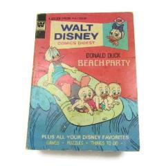 Vintage Walt Disney Comics Digest Donald Duck Beach Party 1955 - Attic and Barn Treasures