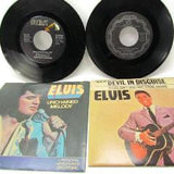 Vintage Elvis 45 RPM Records Unchained Melody and Devil in Disguise - Attic and Barn Treasures