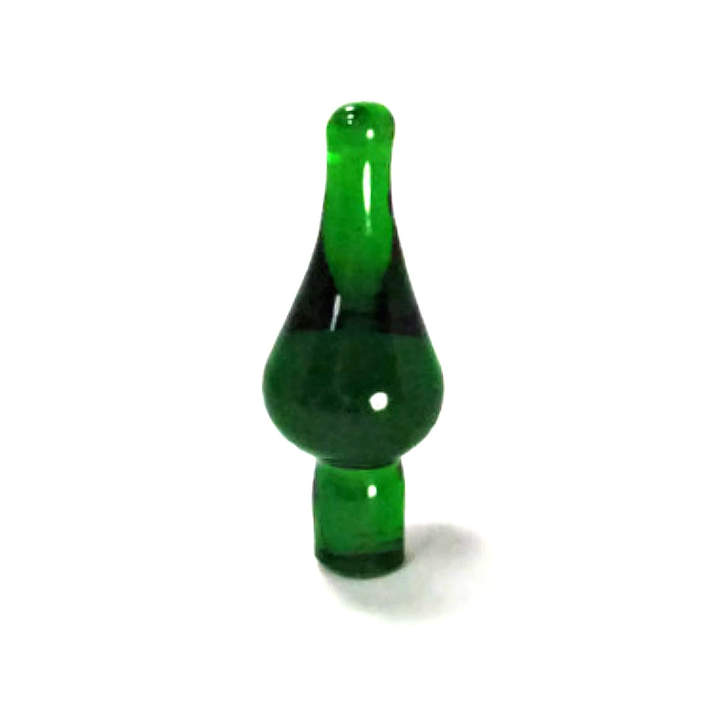 Vintage Emerald Green Glass Bottle Stopper - Attic and Barn Treasures