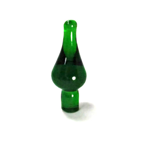 Vintage Emerald Green Glass Bottle Stopper