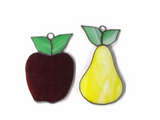 Vintage Stained Glass Fruit Suncatchers - Attic and Barn Treasures