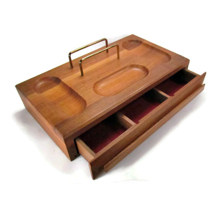 Vintage Men's Dresser Valet Storage with Drawer - Attic and Barn Treasures