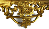 Vintage Gold Hollywood Regency Wall Shelf - Attic and Barn Treasures