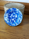 Blue and White Vintage Graniteware Saucer - Attic and Barn Treasures