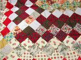 Vintage Hand Sewn Quilt Top c. 1950's 1960's OOAK - Attic and Barn Treasures