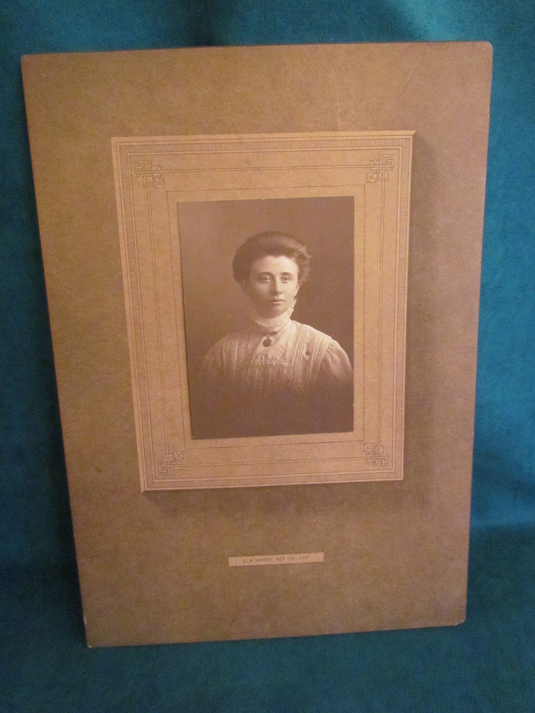 Antique Photo of a Lady in White Cabinet Card - Attic and Barn Treasures