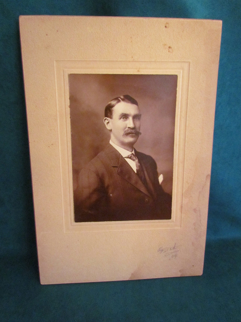 Antique Photo of Man in Suit - Signed - Attic and Barn Treasures
