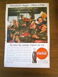 Vintage 1945 Coca Cola Ad Soldier Playing Violin - Attic and Barn Treasures