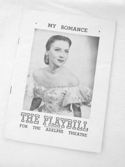 Vintage My Romance 1948 Original Playbill - Attic and Barn Treasures