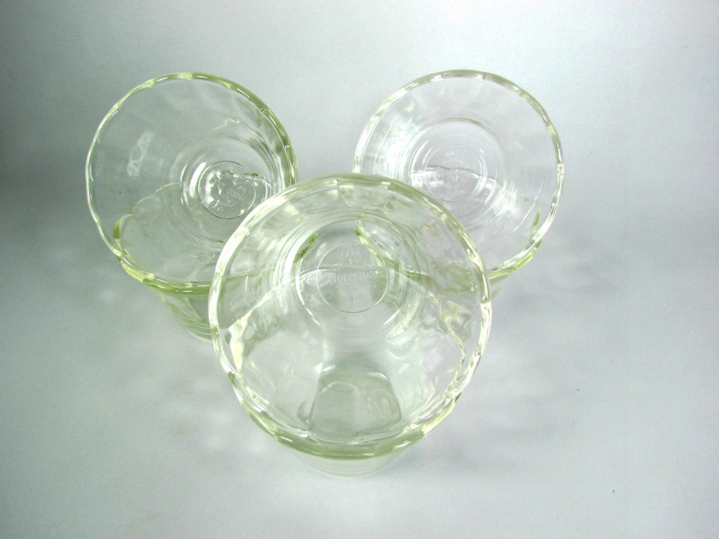 Fire King Vintage Custard Desert Cups Set of 6 Clear - Attic and Barn Treasures
