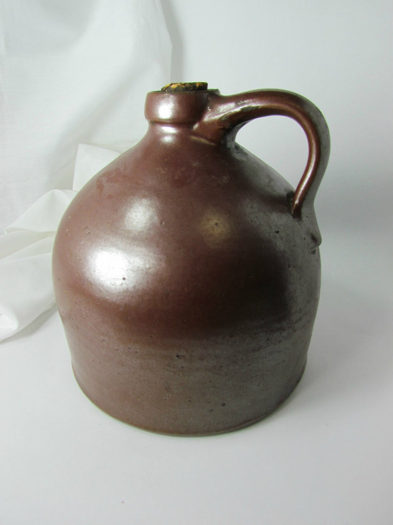 Vintage Short Brown Moonshine Jug Beehive Antique - Attic and Barn Treasures