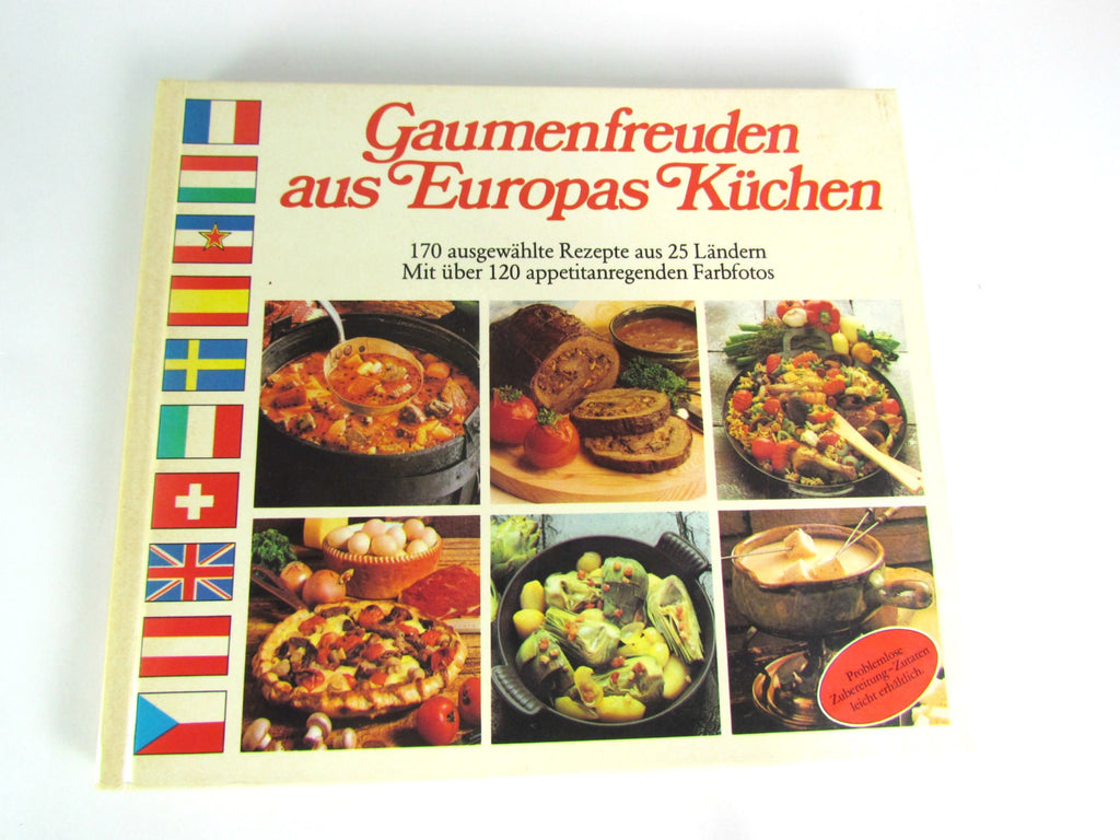 Vintage International Recipes Cookbook Written in German - Attic and Barn Treasures