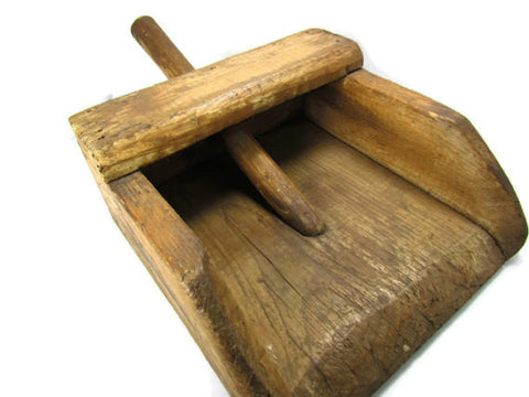 Antique Large Wood Hand Held Grain Shovel - Attic and Barn Treasures