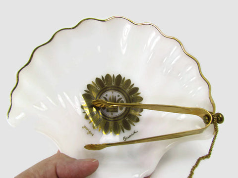 Vintage Georges Briard Regalia Dish With Attached Tongs - Attic and Barn Treasures