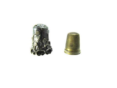 Lot of 2 Vintage Thimbles Silver and Brass - Attic and Barn Treasures