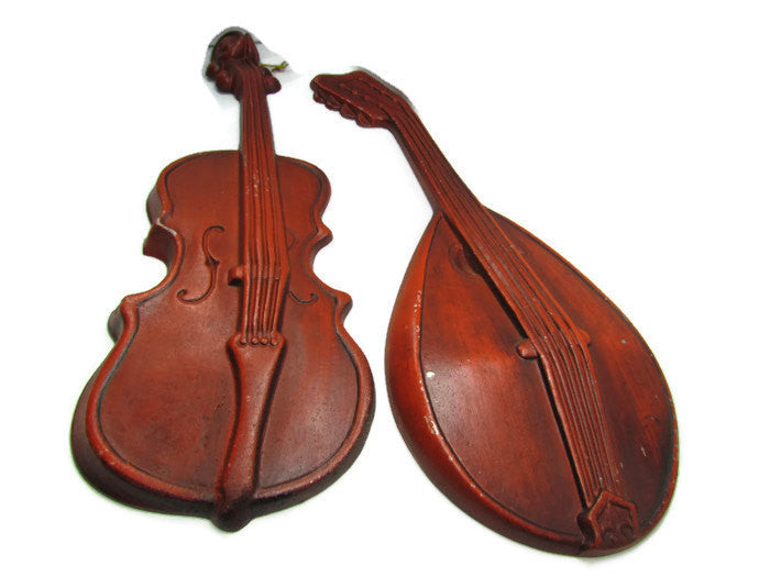 Cast Aluminum Violin Mandolin Combo Vintage - Attic and Barn Treasures