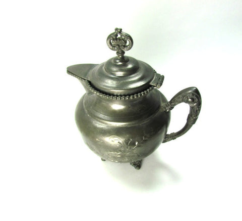 Antique Creamer Silver Triple Plate New Amsterdam - Attic and Barn Treasures