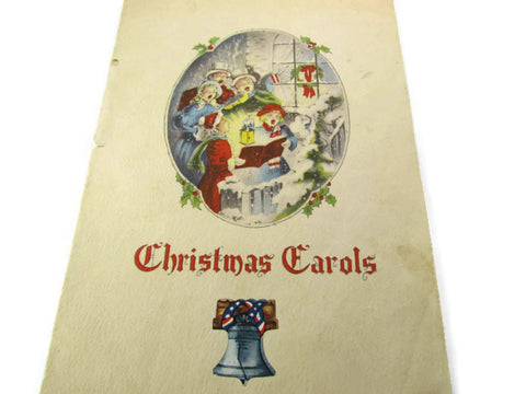 Vintage Christmas Carol Booklet by Liberty Flag - Attic and Barn Treasures