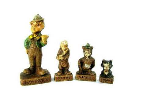 1940 Disney WDP Figurines Geppetto Lampwick Figaro Giddy - Attic and Barn Treasures