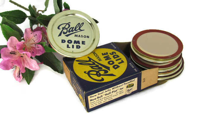 Vintage Ball Mason Jar Dome Lids from the 1940s - New In Box - Attic and Barn Treasures