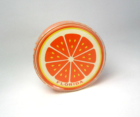 Vintage Souvenir Florida Orange Round Playing Cards - Attic and Barn Treasures