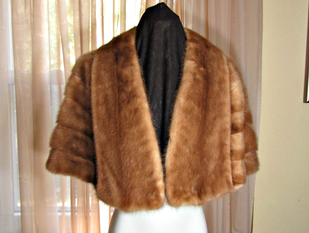Vintage Fur Mink Cape Wrap Evans Chicago - Attic and Barn Treasures