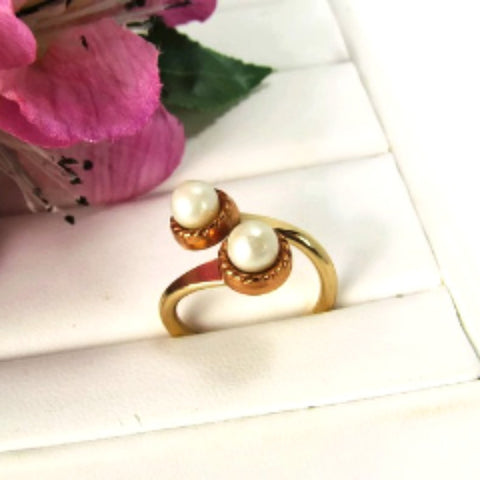 Vintage Bypass Gold and Copper Metal Ring - Attic and Barn Treasures