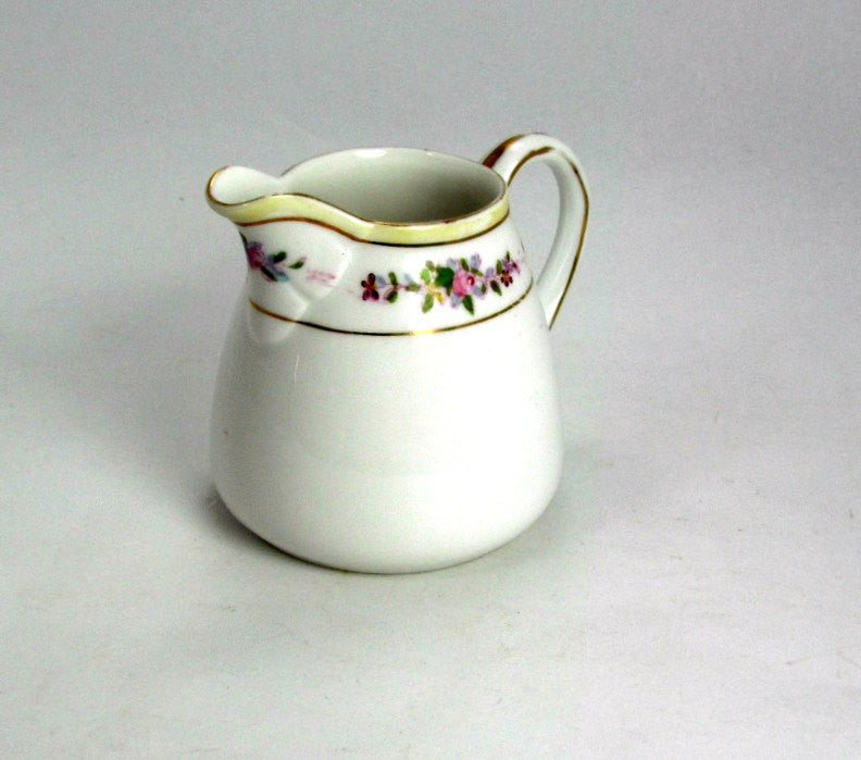 Vintage Nippon Creamer Floral and Gold Trim - Attic and Barn Treasures