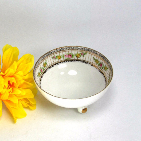 Antique 3 Footed Nippon Condiment Trinket Bowl - Attic and Barn Treasures