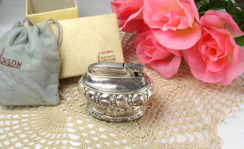 Crown Ronson Vintage Table Lighter - Attic and Barn Treasures