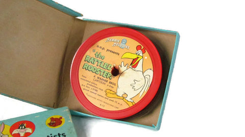 Merrie Melodies Vintage The Rattled Rooster 8mm Cartoon Movie Reel Film - Attic and Barn Treasures