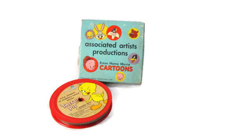 Merrie Melodies Warner Brothers Cartoon Tweetie Pie Vintage 8mm Film - Attic and Barn Treasures
